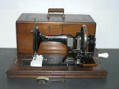 Rare Antique Opel Simplex B Mother Of Pearl Inlay Hand Crank Sewing Machine