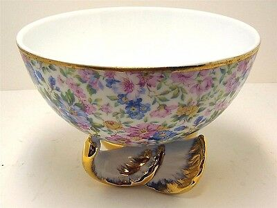Chintz Bowl Footed Acid Edged