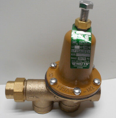 "Watts LF25AUB-Z3 1/2"" Lead Free Water Pressure Reducing Valve 25-75 psi"