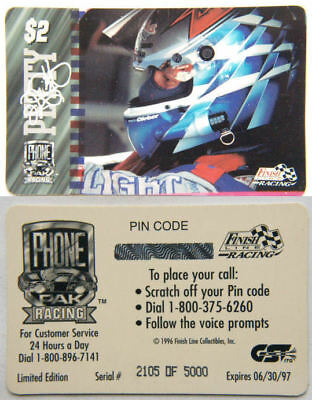 USA Phone Card - PAK Racing Petty Limited Ed. Unused