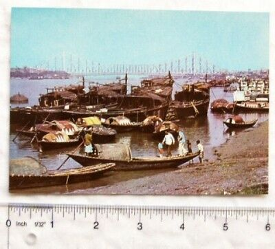 old postcard Hooghly River, Calcutta