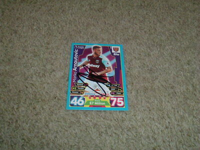 Marko Arnautovic - West Ham United - Signed 17/18 Match Attax Trade Card