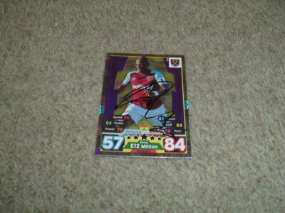 Andre Ayew - West Ham United - Signed (Motm) 17/18 Match Attax Trade Card