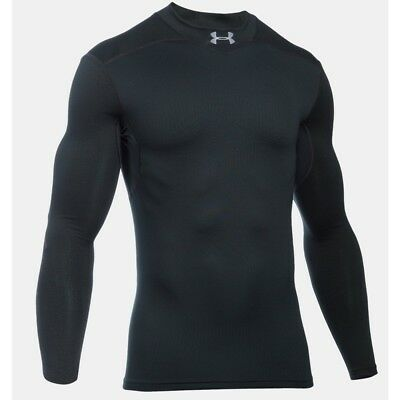 Under Armour Mens ColdGear Infrared Storm Armour Elements Mock Baselayer (Black)