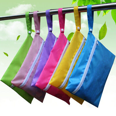 Washable DryPortable Reusable Zip Wet Bag Cloth Sanitary Pad Nappy Storage Pouch