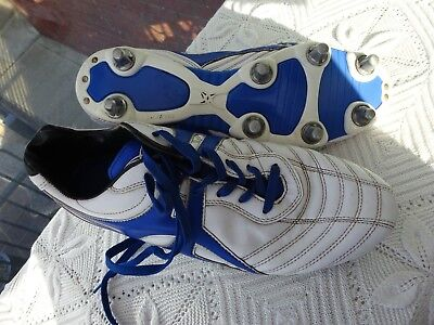 Gilbert White/Blue Rugby Boots Size 11