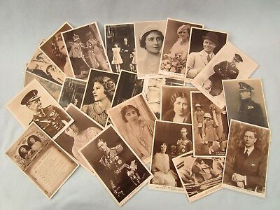Collection 28 Vintage Royal POSTCARDS Tuck Queen King Prince Duchess Kent Photo