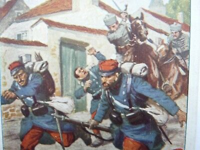 German Propaganda French Soldiers run from attacking German Huss300)