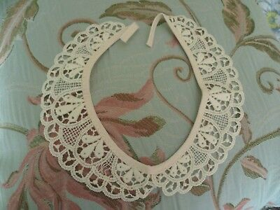 """Cream Lace Collar New Not Used For Jumper Or Blouse 14"""""""