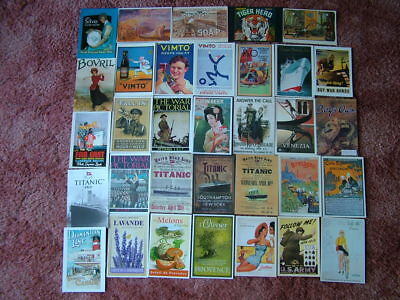 33 Postcards of ADVERTISING CARDS/POSTERS. Unused. Very good condition.