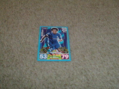 Willian - Chelsea - Signed 17/18 Match Attax Trade Card