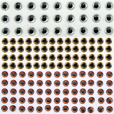 100/200/500Pcs 3-8mm Fishing Lure 3D Holographic Eyes Fly Tying Jigs Crafts Doll