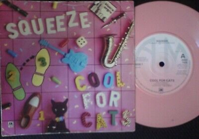 Squeeze-Cool For Cats,1979,7 inch single pink vinyl