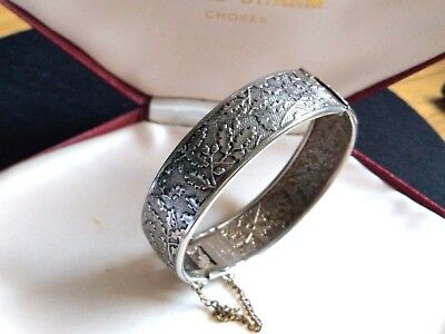 Vintage Jewellery superb 1950 silver bangle Empire Made Stamped Elizabethan no 2