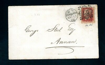 1866  Cover  Edinburgh  131   Brunswick Star to Annan   (O1252)