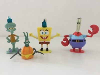 Spongebob Squarepants Figures Toys Bundle of 4 Nickelodeon
