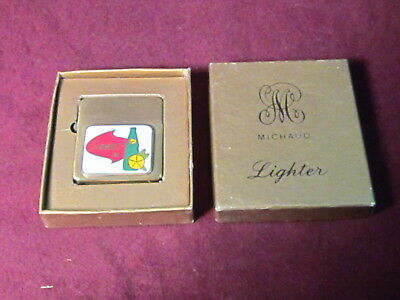 """Michaud Lighter """"squirt"""" Soft Drink Advertising Mint In Box Never Used"""