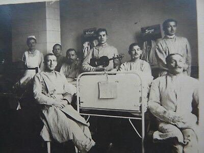 Wounded German Soldiers in Hospital Ward,Nurses and Music,Annotated RPPC.(2318)