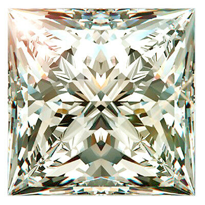 2.44 ct VVS1/7.88MM GENUNE OFF WHITE PRINCESS CUT REAL LOOSE MOISSANITE