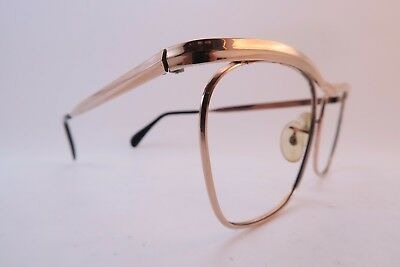 Vintage gold filled eyeglasses frames ALGHA 20 England 52-20 men's M KILLER ****