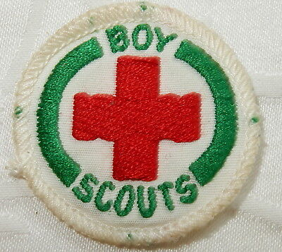 1947-1958 Senior Scout Badge First Aid Proficiency Merit Scouting Patch - Mint