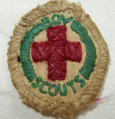 1934-1967 Boy Scout Badge First Aid Proficiency Merit Scouting Patch