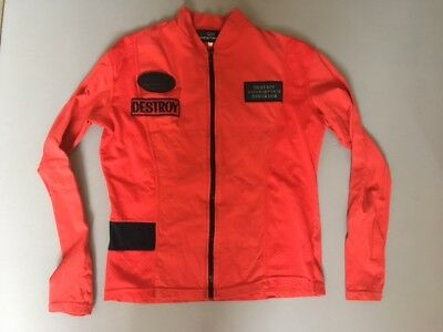 JOHN RICHMOND DESTROY ZIP-UP CYCLE TOP VINTAGE 1980's MENS M Made in ENGLAND