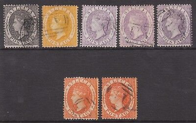 ST LUCIA 1864 USED VICTORIA STAMP SET + SHADES P14 wmk CC