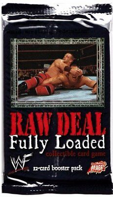 3 x Booster Packs WWE WWF Raw Deal V2.0 Fully Loaded (12 Cards Per Pack)