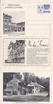 France 1938 white paper illustrated fold-out stationery unused, no 7