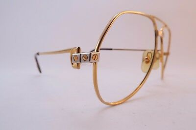 Vintage 24K gold filled eyeglasses frames Cartier Paris Vendome Santos 56-14 130