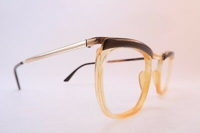 Vintage 50s gold filled eyeglasses frames 40/000 Doublé Or Laminé Size 50 France