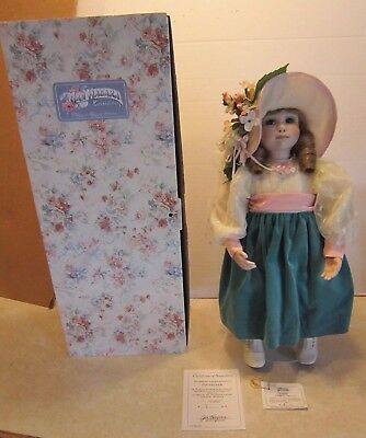 "Jan Hagara 18"" Callie Porcelain Doll #ed 7/75 & Signed on Neck NM/M w Box C19"