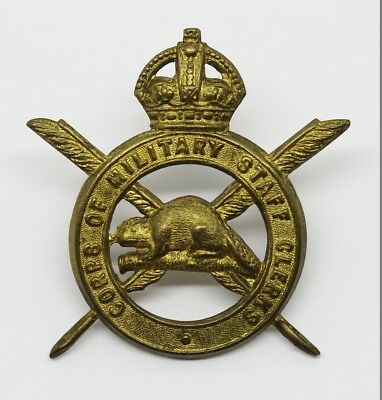 Canadian Corp of Military Staff Clerks Cap Badge #7
