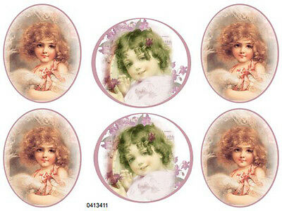 AsST ViCToRiaN GiRL PoRTraiTS ShaBby WaTerSLiDe DeCALs