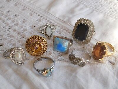 Lovely Collection of Vintage 1950s Costume RINGS
