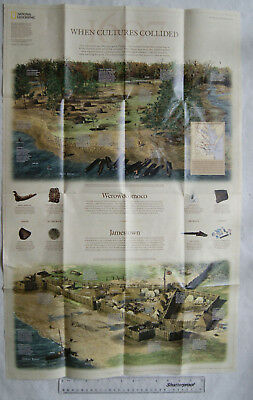 2007 National Geographic poster map - When Cultures Collided - Virginia,