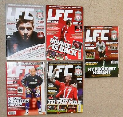 5 Liverpool Football Club Official Magazines Lfc Weekly 2010