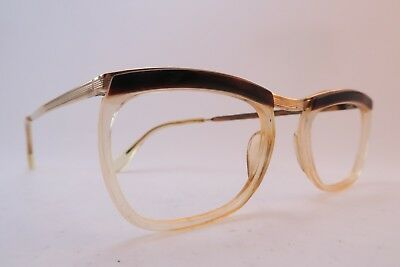 Vintage 50s eyeglasses frames gold filled BRIDGE Doublé Or Laminé France