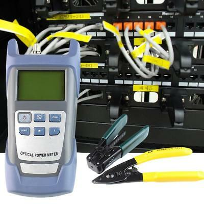 Fiber Optic FTTH Tool Kit with FC-6S Fiber Cleaver and Optical Power Meter 5k R3