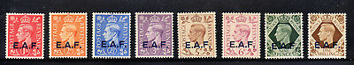 GB OFFICES ABROAD (EAF) 1943 GB ovpt stamps 1-8 good MH CV $12. Start at US$1.00