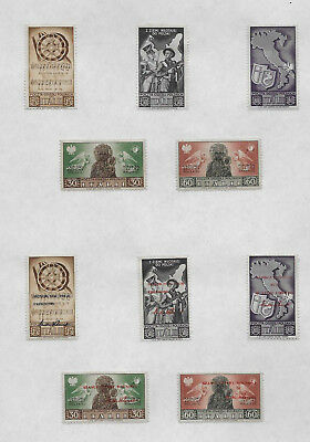 Polish Troops In Italy Mh Stamps