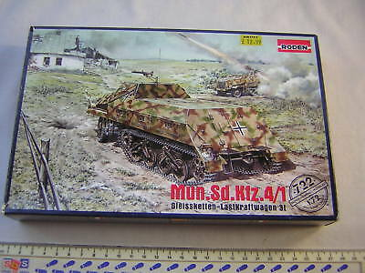 Roden WW2 German Military Munitions Carrier Mun.Sd.Kfz. 4/1 Kit Scale 1:72