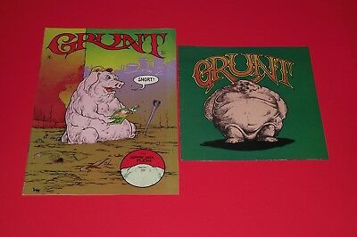 GRUNT COMICS VOL 1 & 2 GREG IRONS TOM VEITCH set UNDERGROUND JEFFERSON AIRPLANE
