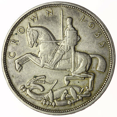 1935 Crown George V ~ 'Rocking Horse' Silver Jubilee Year