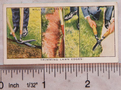 1938 Wills Garden Hints No. 17 Trimming Lawn Edges