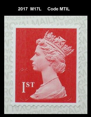 2017 - 1st - M17L - MTIL  Single Stamp from 12x1st class booklet on SBP2 Paper