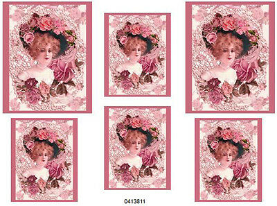 DaZzLinG ViCToRiaN WoMaN ShaBby WaTerSLiDe DeCALs