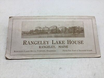 1922 Rangeley Lake House Maine Brochure With Golf Course Layout