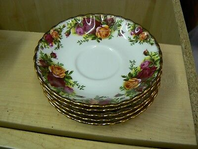 Old Royal Albert Old Country Roses Saucers For Tea Cups 5 Available